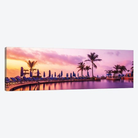 Sunrise At The Pool Canvas Print #JRP92} by Jonathan Ross Photography Art Print