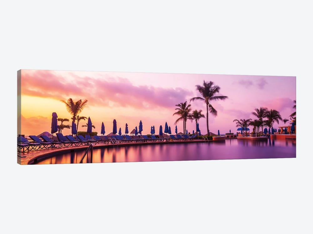 Sunrise At The Pool by Jonathan Ross Photography 1-piece Canvas Art Print