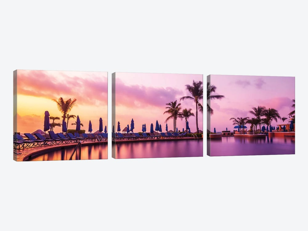 Sunrise At The Pool by Jonathan Ross Photography 3-piece Art Print