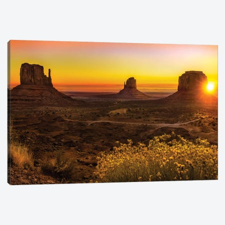 Sunrise In Monument Valley Canvas Print #JRP93} by Jonathan Ross Photography Canvas Print