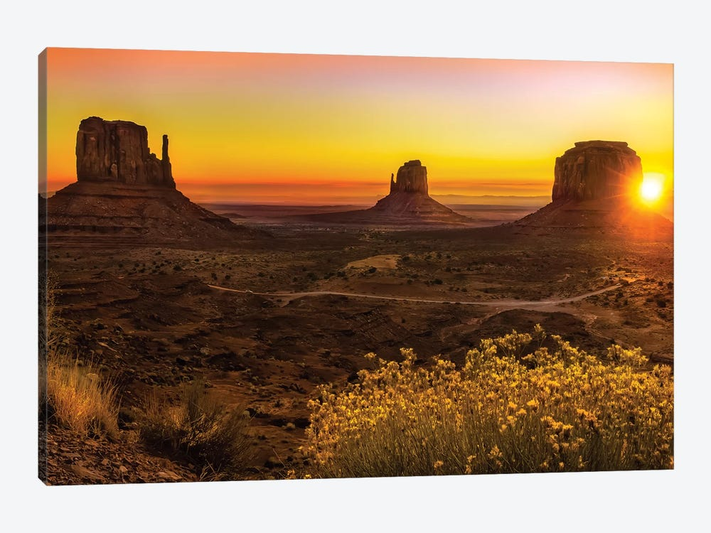 Sunrise In Monument Valley by Jonathan Ross Photography 1-piece Canvas Wall Art