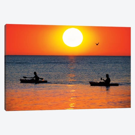 Sunset Excursion 3-Piece Canvas #JRP95} by Jonathan Ross Photography Canvas Art