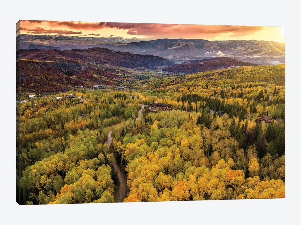 Sunset In The Valley by Jonathan Ross Photography 1-piece Canvas Art
