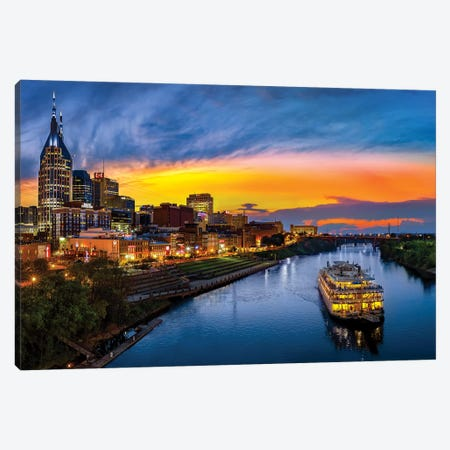 Sunset On The Cumberland Canvas Print #JRP98} by Jonathan Ross Photography Art Print