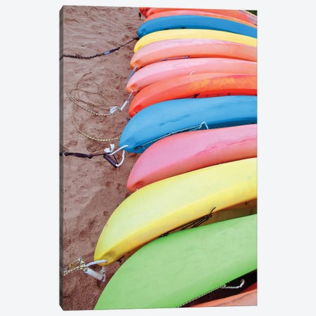 Kayaks I Canvas Print #JRR4} by Jairo Rodriguez Art Print
