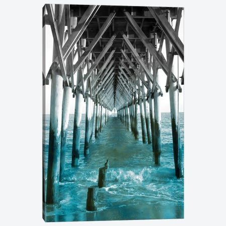 Teal Dock I Canvas Print #JRR9} by Jairo Rodriguez Canvas Artwork