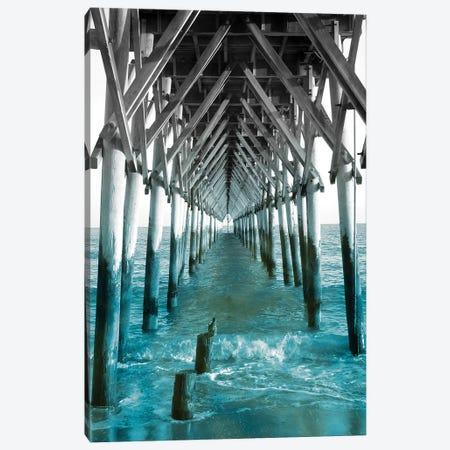 Teal Dock I Canvas Print #JRR9} by Jairo Rodriguez Canvas Artwork