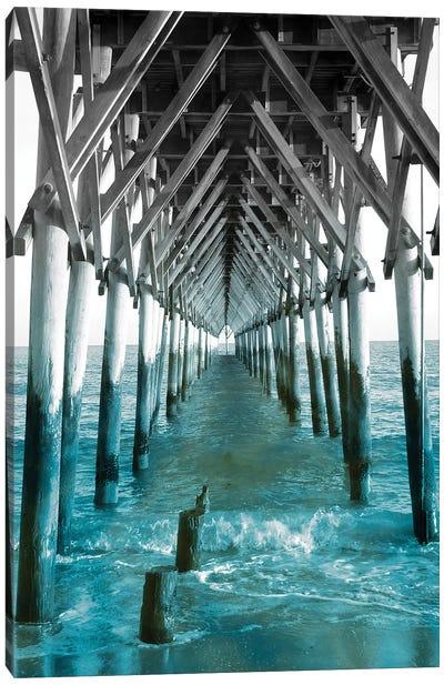 Teal Dock I Canvas Art Print