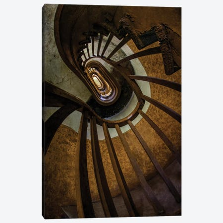 Brown Spiral Staircase Canvas Print #JRS10} by Jaroslaw Blaminsky Canvas Art