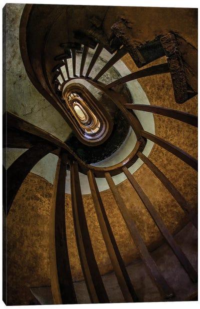 Brown Spiral Staircase Canvas Art Print