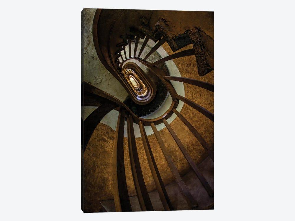 Brown Spiral Staircase by Jaroslaw Blaminsky 1-piece Canvas Print