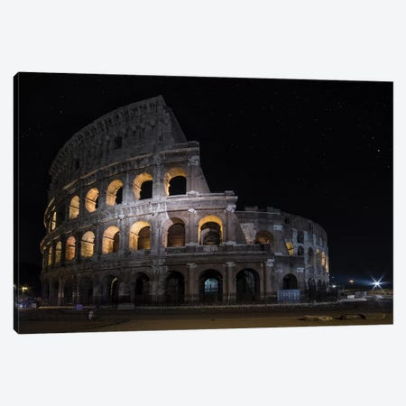 Colliseum At Night Canvas Print #JRS12} by Jaroslaw Blaminsky Canvas Wall Art