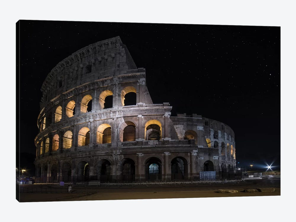 Colliseum At Night by Jaroslaw Blaminsky 1-piece Canvas Print