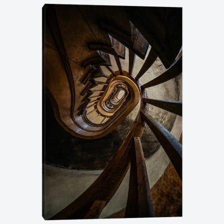 Dark Brown Spiral Staircase Canvas Print #JRS18} by Jaroslaw Blaminsky Canvas Art