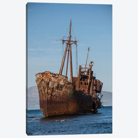 Dimitrios Shipwreck Canvas Print #JRS19} by Jaroslaw Blaminsky Canvas Wall Art
