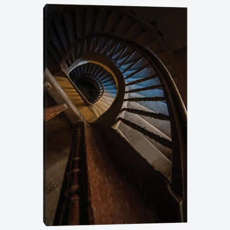 Abandoned Wooden Staircase 3-Piece Canvas #JRS1} by Jaroslaw Blaminsky Canvas Print
