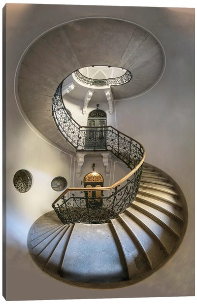Eight - Spiral Staircase Canvas Art Print