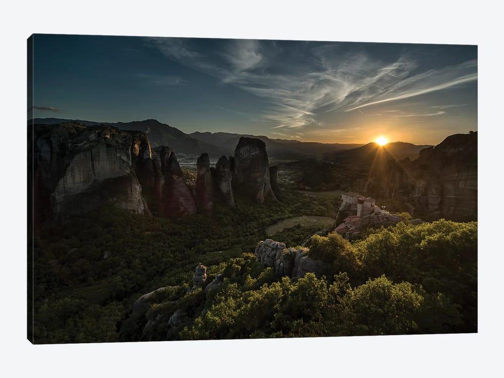 Greece, Meteora At Sunset by Jaroslaw Blaminsky 1-piece Canvas Artwork
