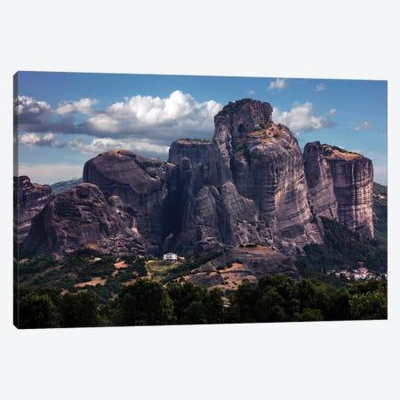 Greece, Meteora Rocks On A Sunny Day Canvas Print #JRS29} by Jaroslaw Blaminsky Art Print