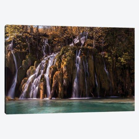 Autumn Waterfall Canvas Print #JRS3} by Jaroslaw Blaminsky Canvas Art Print