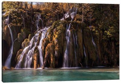 Autumn Waterfall Canvas Art Print