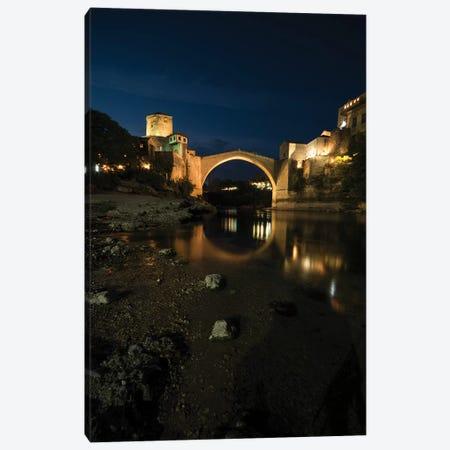 Mostar At Night Canvas Print #JRS48} by Jaroslaw Blaminsky Canvas Art Print