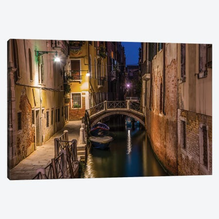 Night Walk In Venice Canvas Print #JRS49} by Jaroslaw Blaminsky Canvas Art Print