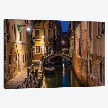 Night Walk In Venice Canvas Print #JRS49} by Jaroslaw Blaminsky Canvas Art Print