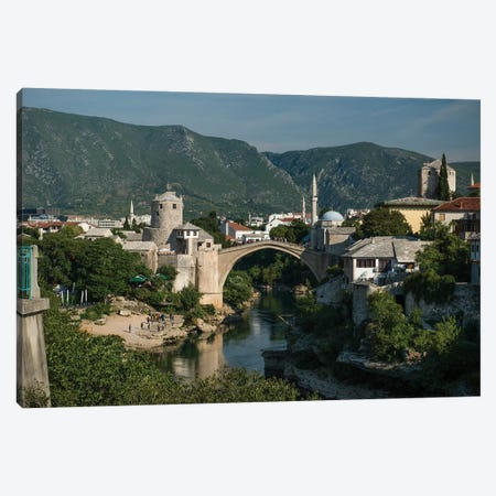 Postcard From Mostar, Bosnia 3-Piece Canvas #JRS56} by Jaroslaw Blaminsky Canvas Print