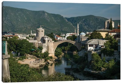 Postcard From Mostar, Bosnia Canvas Art Print