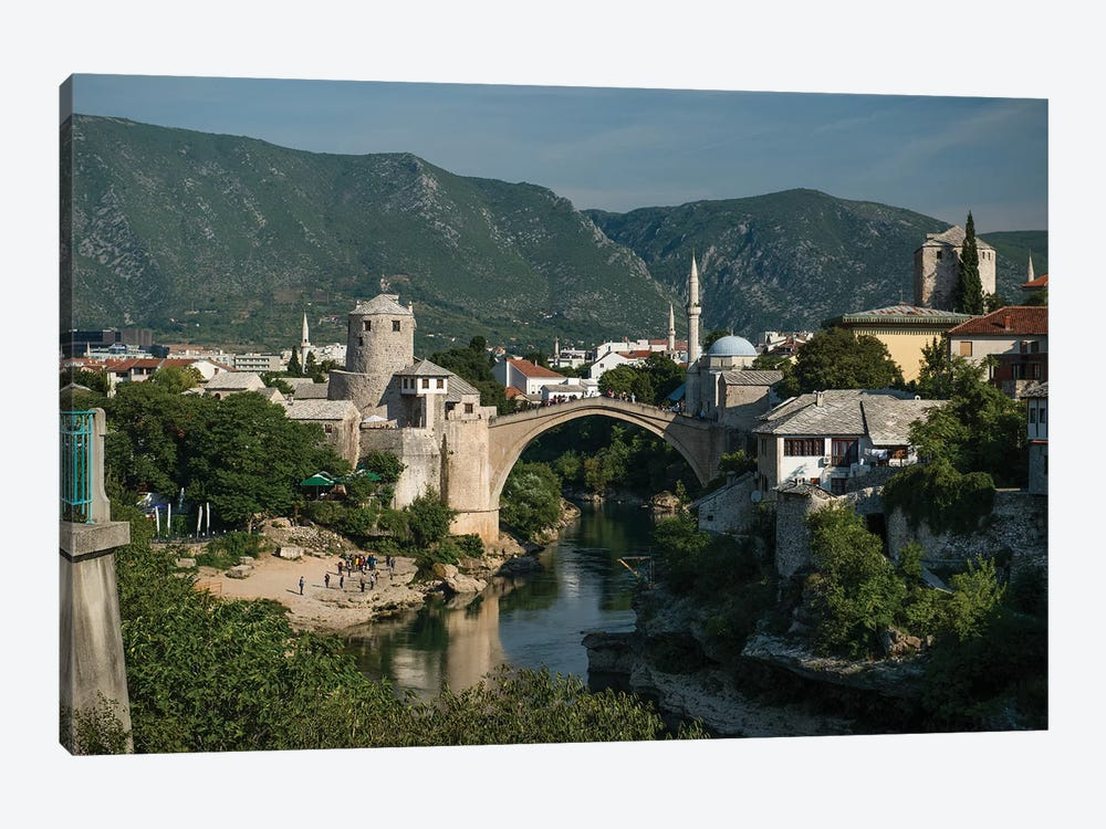 Postcard From Mostar, Bosnia by Jaroslaw Blaminsky 1-piece Canvas Print