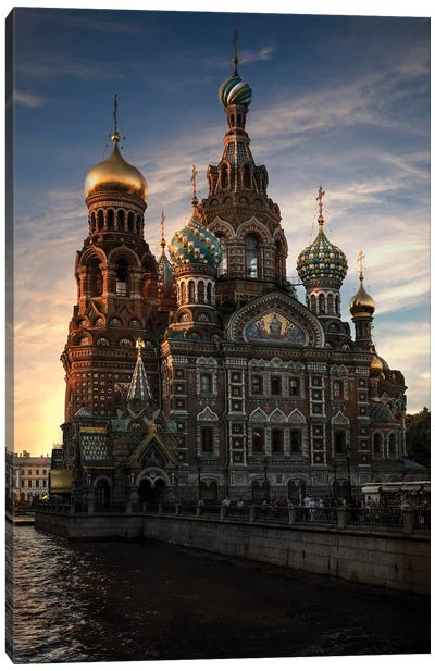 Postcard From Saint Petersburg Canvas Art Print