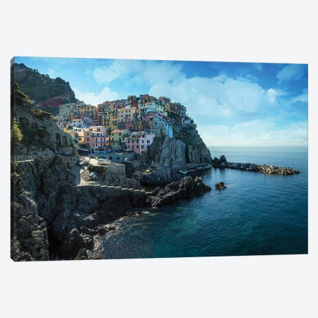 Pretty Morning At Manarola Canvas Print #JRS61} by Jaroslaw Blaminsky Art Print