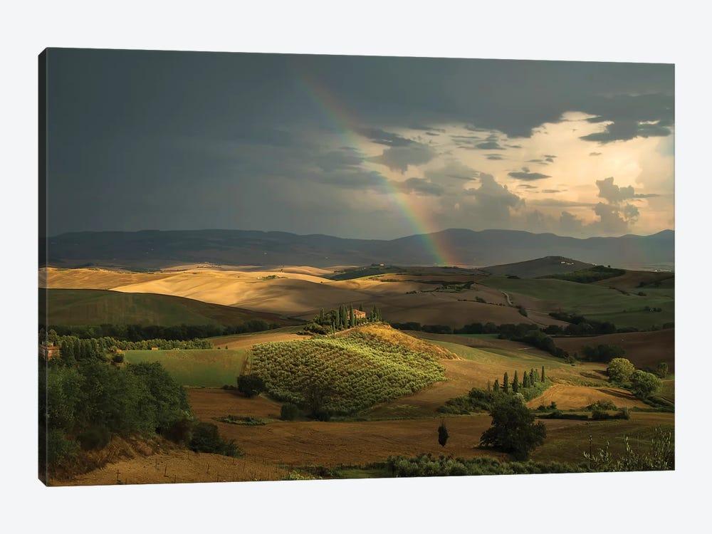 Rainbow Over Val D'Orcia Fields by Jaroslaw Blaminsky 1-piece Art Print