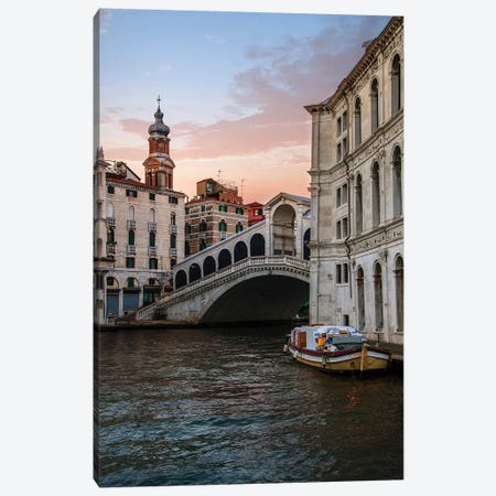 Rialto Bridge At Dawn Canvas Print #JRS67} by Jaroslaw Blaminsky Canvas Art