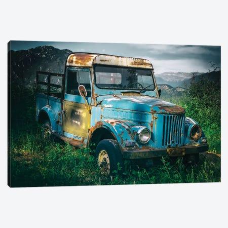 Blue Truck Canvas Print #JRS6} by Jaroslaw Blaminsky Canvas Art