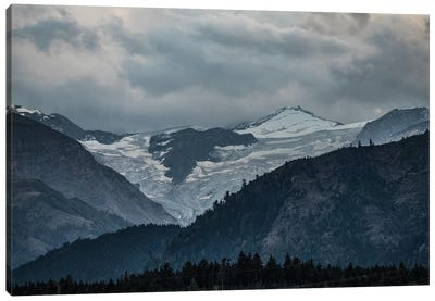 Snowy Mountains Of Austria Canvas Art Print