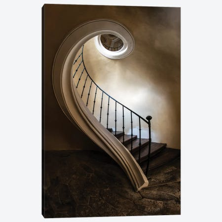 Spiral Staircase In The Old Tower Canvas Print #JRS72} by Jaroslaw Blaminsky Canvas Art