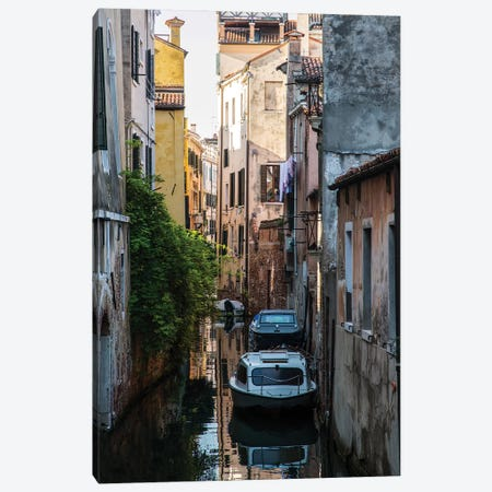 Sunny Canals Of Venice Canvas Print #JRS75} by Jaroslaw Blaminsky Art Print