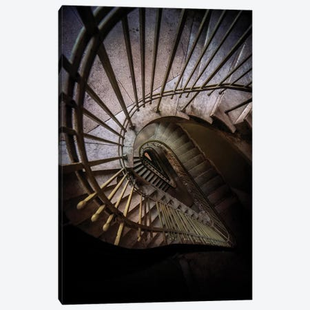 Teardrop Shaped Staircase Canvas Print #JRS77} by Jaroslaw Blaminsky Art Print
