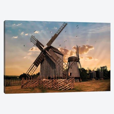 Windmills At Dawn Canvas Print #JRS96} by Jaroslaw Blaminsky Art Print