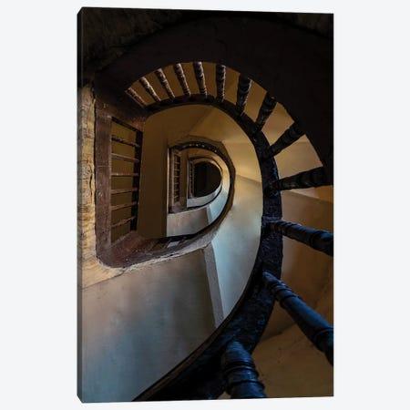 Wooden Spiral Staircase Canvas Print #JRS97} by Jaroslaw Blaminsky Canvas Print