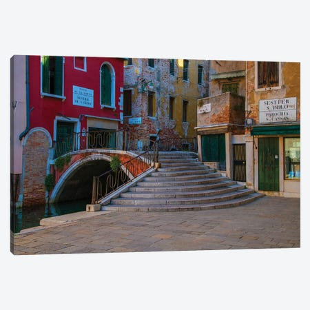 Bridges Of Venice Canvas Print #JRS9} by Jaroslaw Blaminsky Art Print