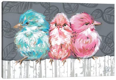 Bird Trio I Canvas Art Print