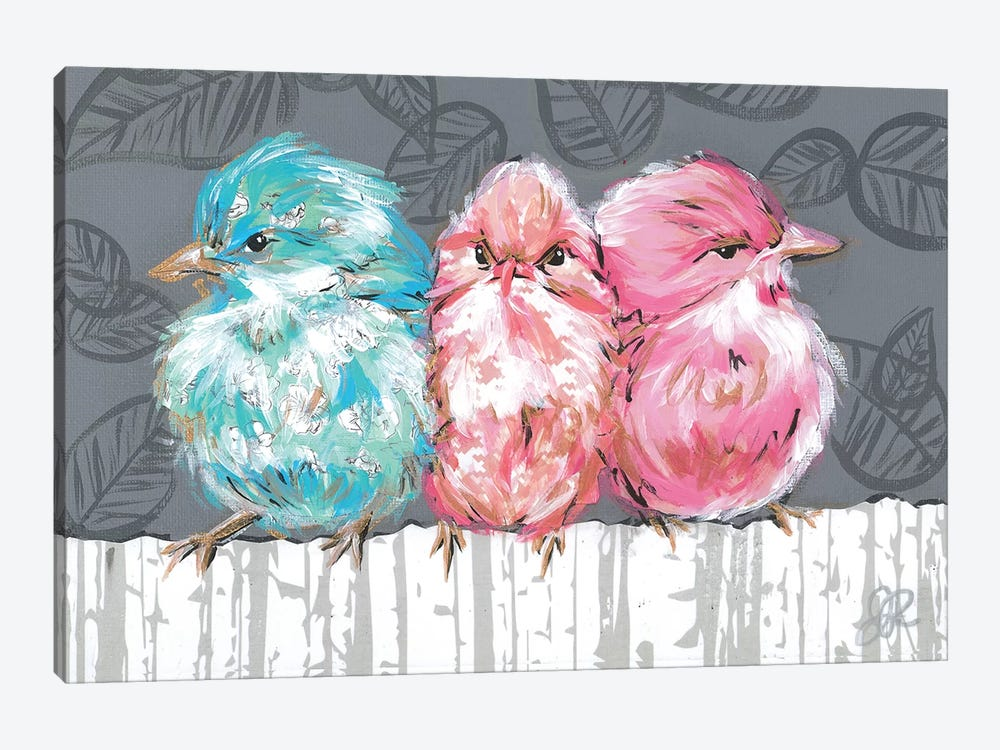 Bird Trio I by Jennifer Rutledge 1-piece Canvas Art Print