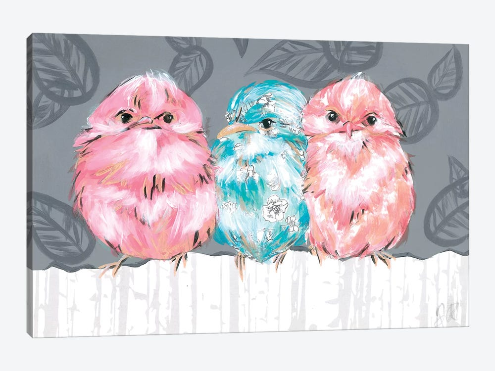 Bird Trio II by Jennifer Rutledge 1-piece Canvas Art