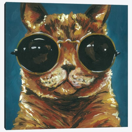 Dapper Animal I Canvas Print #JRU14} by Jennifer Rutledge Canvas Print