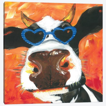 Dapper Animal V Canvas Print #JRU17} by Jennifer Rutledge Art Print