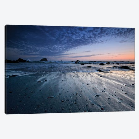 Tide Rushes Out 3-Piece Canvas #JRW4} by Joseph Rowland Canvas Artwork