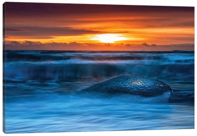 Diamond Beach Sunrise, Iceland Canvas Art Print